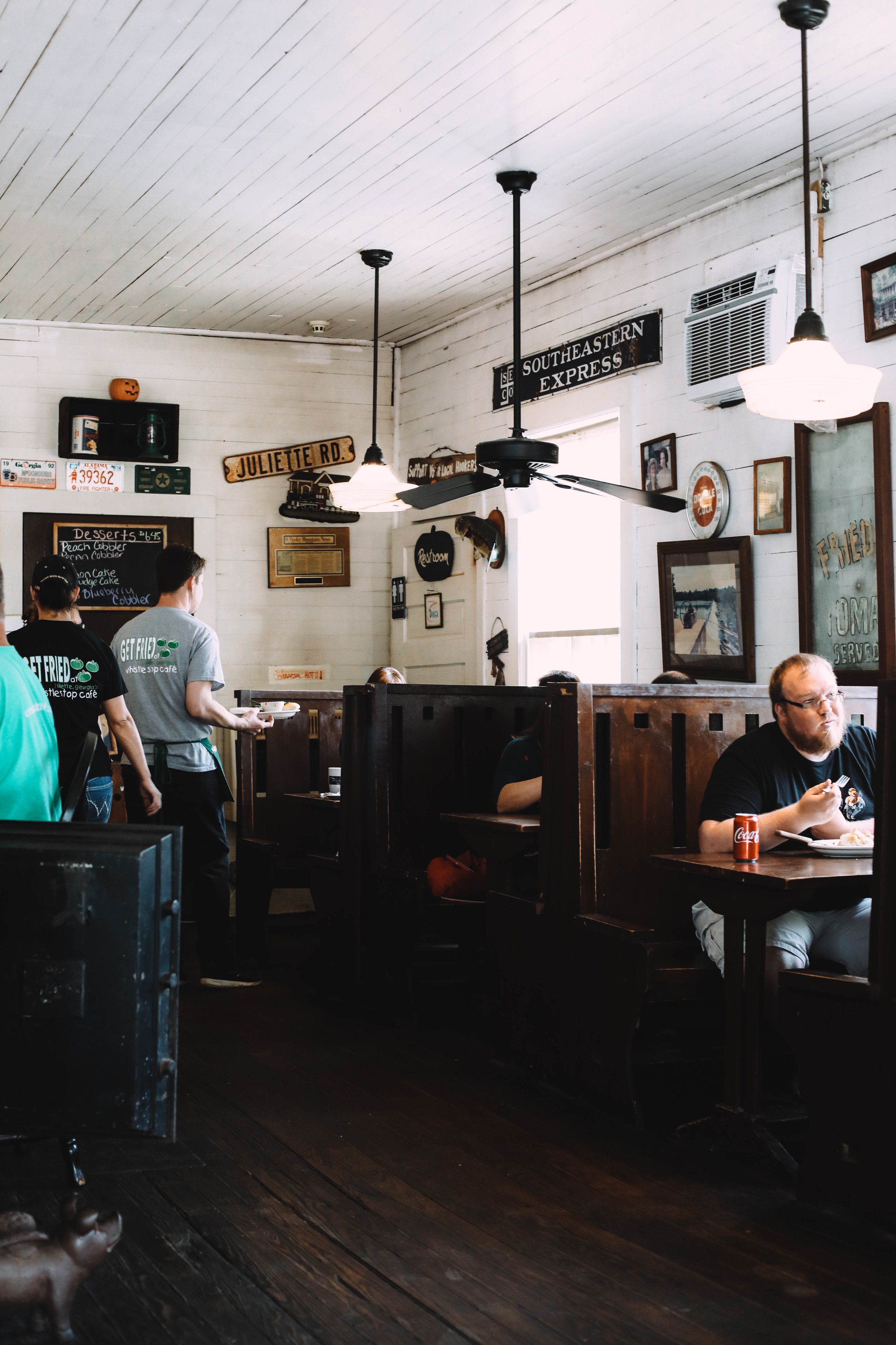 On Sunday, we paid a visit to the Whistle Stop Cafe - a favorite!!