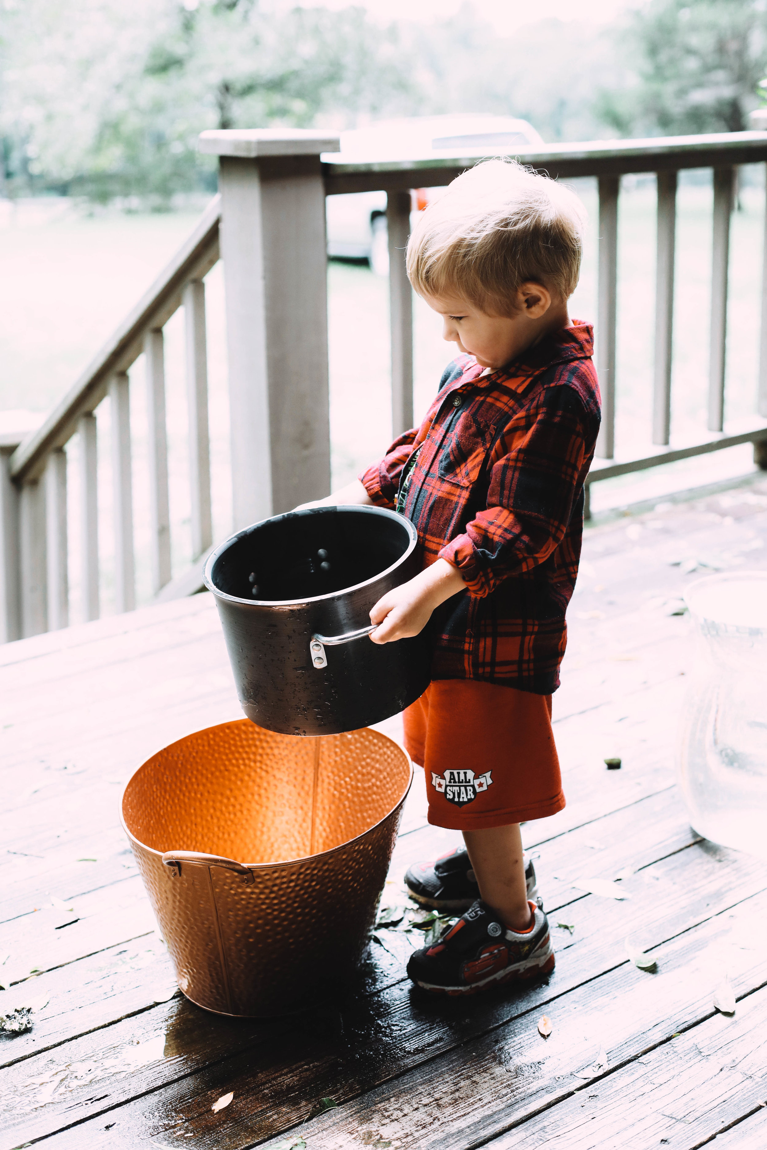 Emmerson definitely helped with the collection of the rain water!