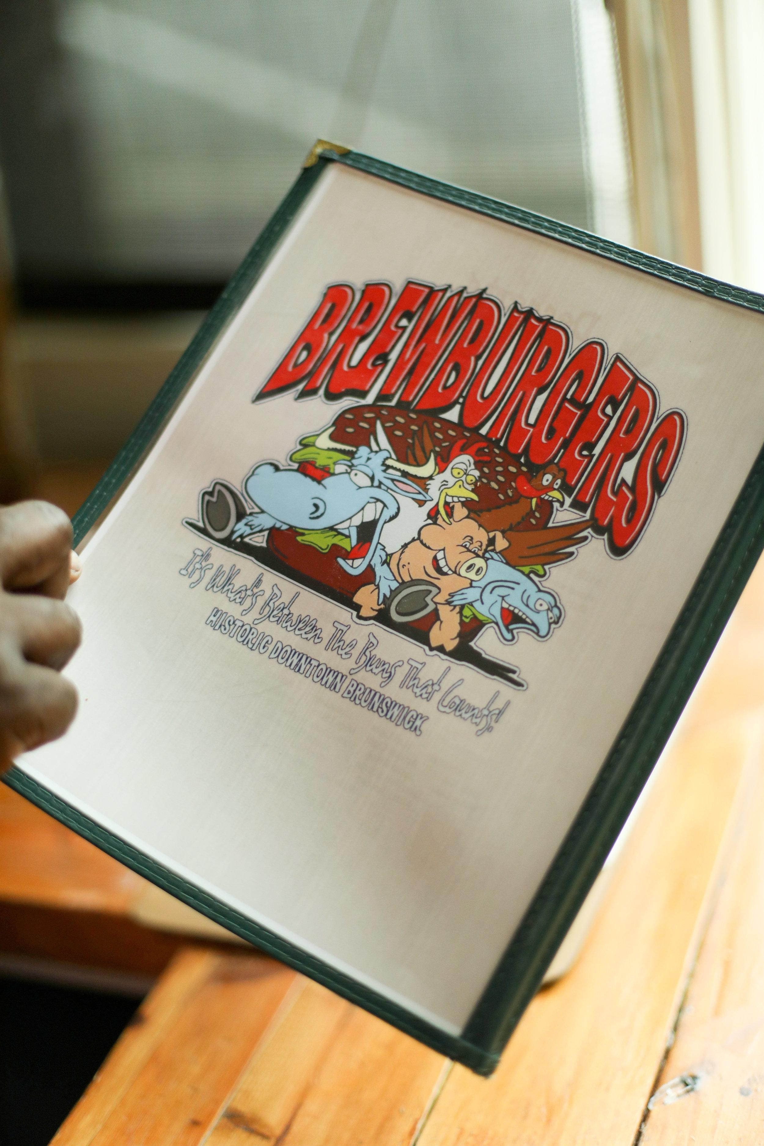 Brewburger's menu