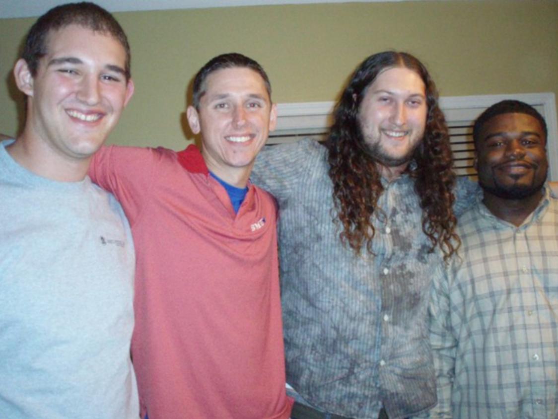 2010 Bonhoeffer Residents (L to R): Brandon Lazarus, Adam White, Jonathan Grace, and George Battle III