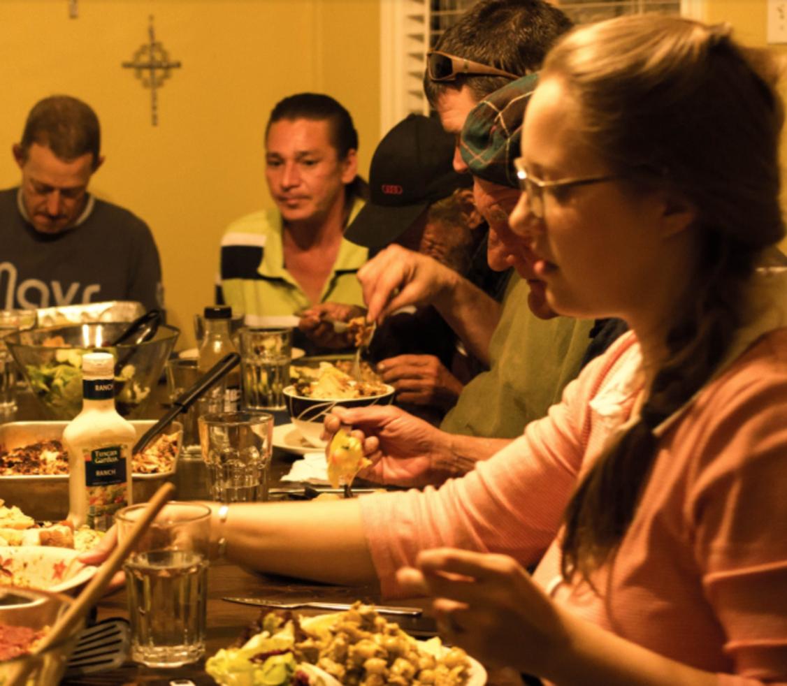 Community Dinner at the Dietrich Bonhoeffer House, 2014 Photo credit: Ryan Klinck