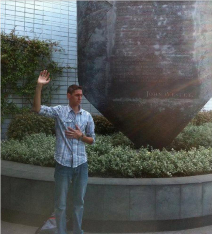 Photo Credit: Myself at the Aldersgate Memorial in London, 2011