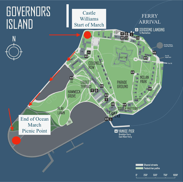 YOUTH RALLY - 11:30pm: Gather at Castle Williams on Governors Island12:30pm: Rally starts with Fijian band1:00pm: Youth Rally arrives at Picnic Point on Governors Island