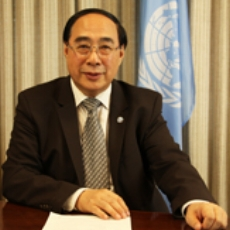 Wu Hongbo    Under-Secretary-General    United Nations   Mr. Wu Hongbo was appointed United Nations Under-Secretary-General for Economic and Social Affairs on 1 August 2012.As Under-Secretary-General for Economic and Social Affairs, Mr. Wu guides UN Secretariat support for the follow-up processes of the Rio+20 Conference, including the UN General Assembly Open Working Group on Sustainable Development Goals, the Intergovernmental Committee of Experts on Sustainable Development Financing, and the High-level Political Forum on Sustainable Development. He has overseen the substantive services to a number of intergovernmental processes, including the General Assembly Special Event on MDGs, the intergovernmental deliberations on the post-2015 development agenda, the General Assembly High-level Meeting on Persons with Disability, the High-level Dialogue on Migration and Development, as well as the annual meetings of the Second and Third Committees of the General Assembly, the meetings of the Economic and Social Council, including its Development Cooperation Forum, and the work of the functional commissions of ECOSOC.  In addition to intergovernmental processes, Mr. Wu oversees DESA's policy analysis and capacity development work. He also serves as the Convenor of the Executive Committee on Economic and Social Affairs, and advises the United Nations Secretary-General on all development-related issues, including climate change, internet governance, and financing for development.  Mr. Wu graduated from Beijing Foreign Studies University and pursued his postgraduate studies at Victoria University of Wellington in New Zealand. He was born in May 1952 in Shandong, China. Mr. Wu is married with a daughter.