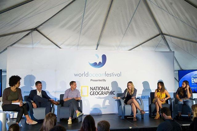 At the World Ocean Festival last Sunday, we gathered leading ocean experts on coral reefs, plastic pollution, seafood and urban oceans to discuss ocean conservation solutions during the @natgeo Speaker Forum.  We hope it sparked some action this week at the @unitednations Ocean Conference! #saveourocean