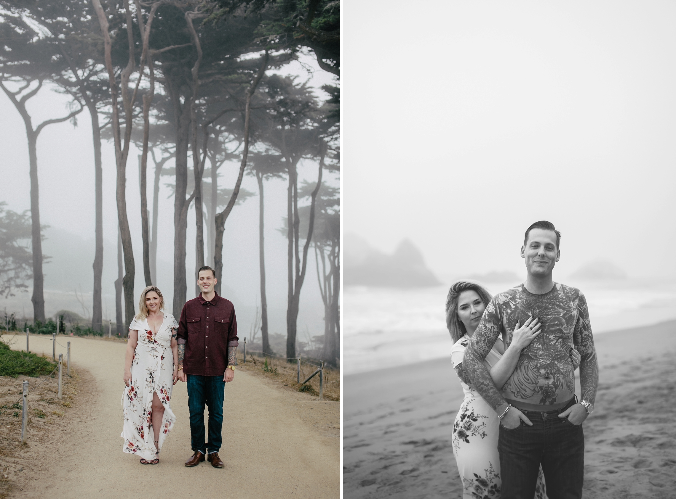 San Francisco Lands End Engagement