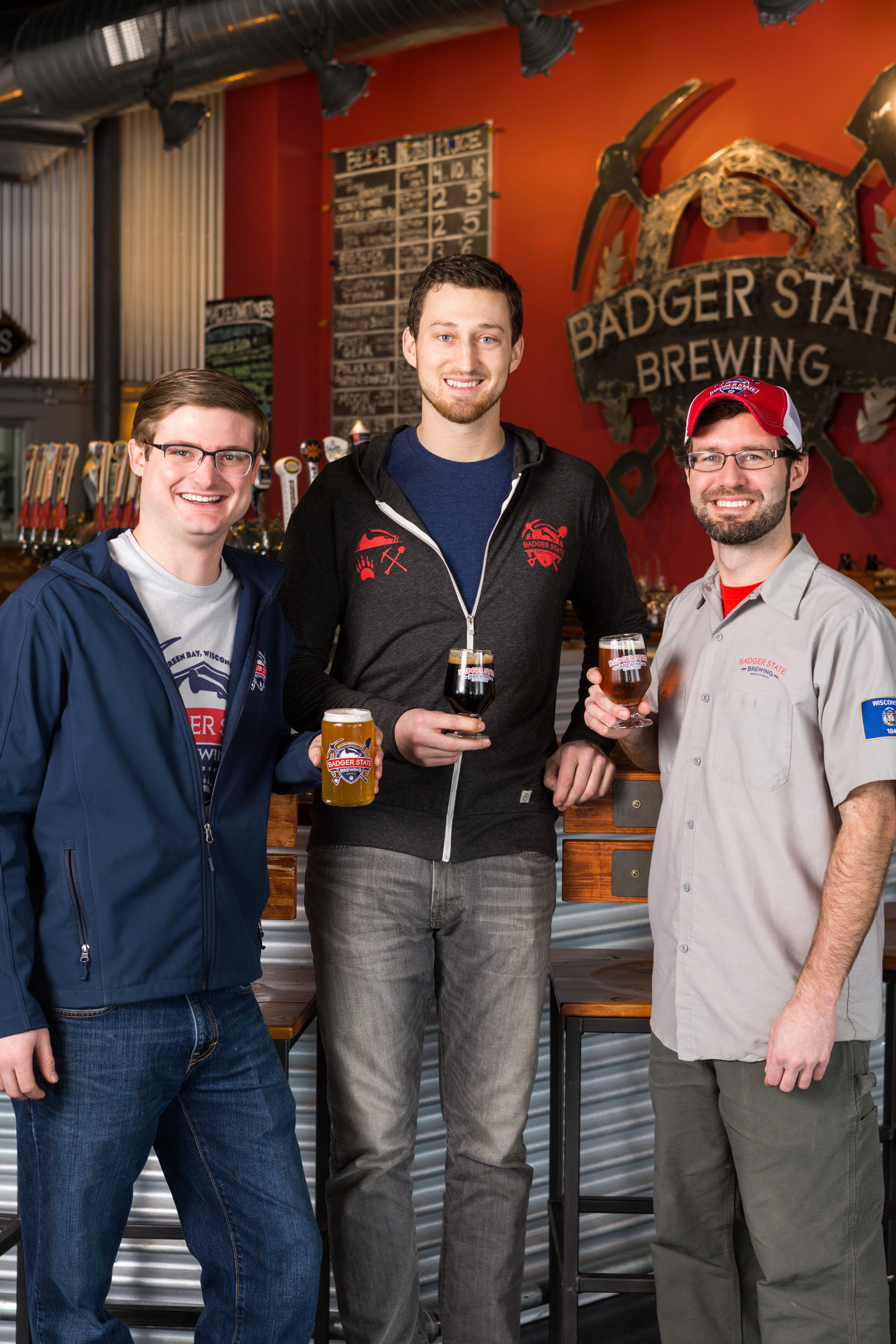 Mike, Andrew, Sam - Meet the team of Badger State Brewing