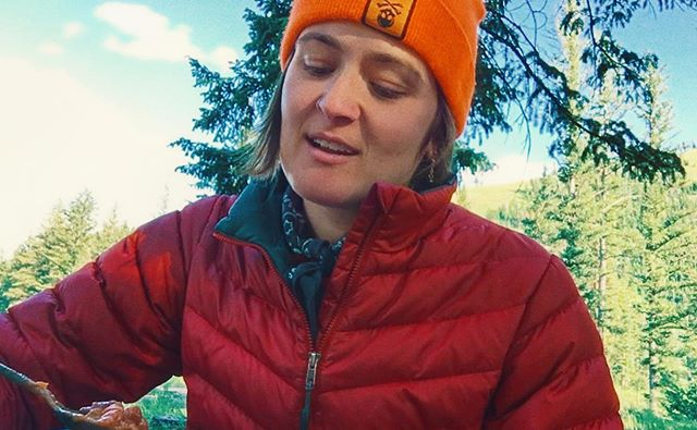 """Whenever I'm alone - and I mean really alone, way out there with no cell service and no friends and no one to hear me - I inevitably always have a moment of """"holy shit, I have changed so much."""" It's a big part of why I like soloing so much. It gives me space to see the wild powerful transformations I have undergone, and am always undergoing.  I step into the fire over and over for the sake of learning what emerges from the ashes - a truer version of mySelf.  I tune in over and over to the Truth that lives within me and within everything I see touch feel - that the basic nature of life is change. Not only do I accept this, but I wholly revel in it. I'm here for it.  While this camp stove chili moment may not look like much, it was a powerful day from my summer solo, when I had some pretty big truths about mySelf come to light. For me, that's the most rad.  #transformation #kali #rosegoldgoddesschallenge #nationalforest #solotravel #campvibes #mountainlife #outdoorwomen #nationalforest"""
