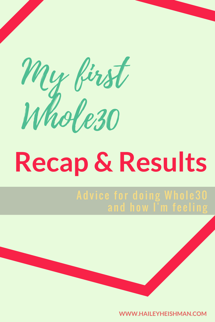 first whole30 recap and results