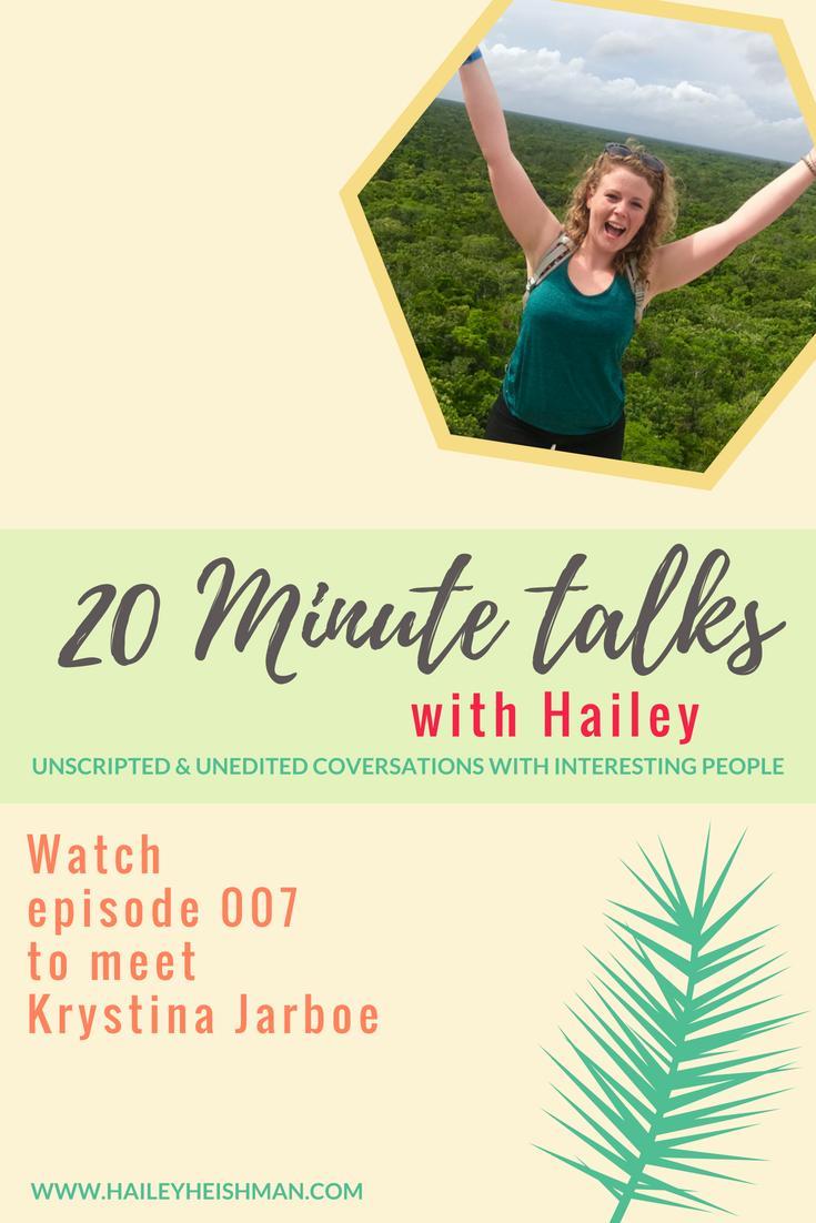 20 minute talks with Krystina