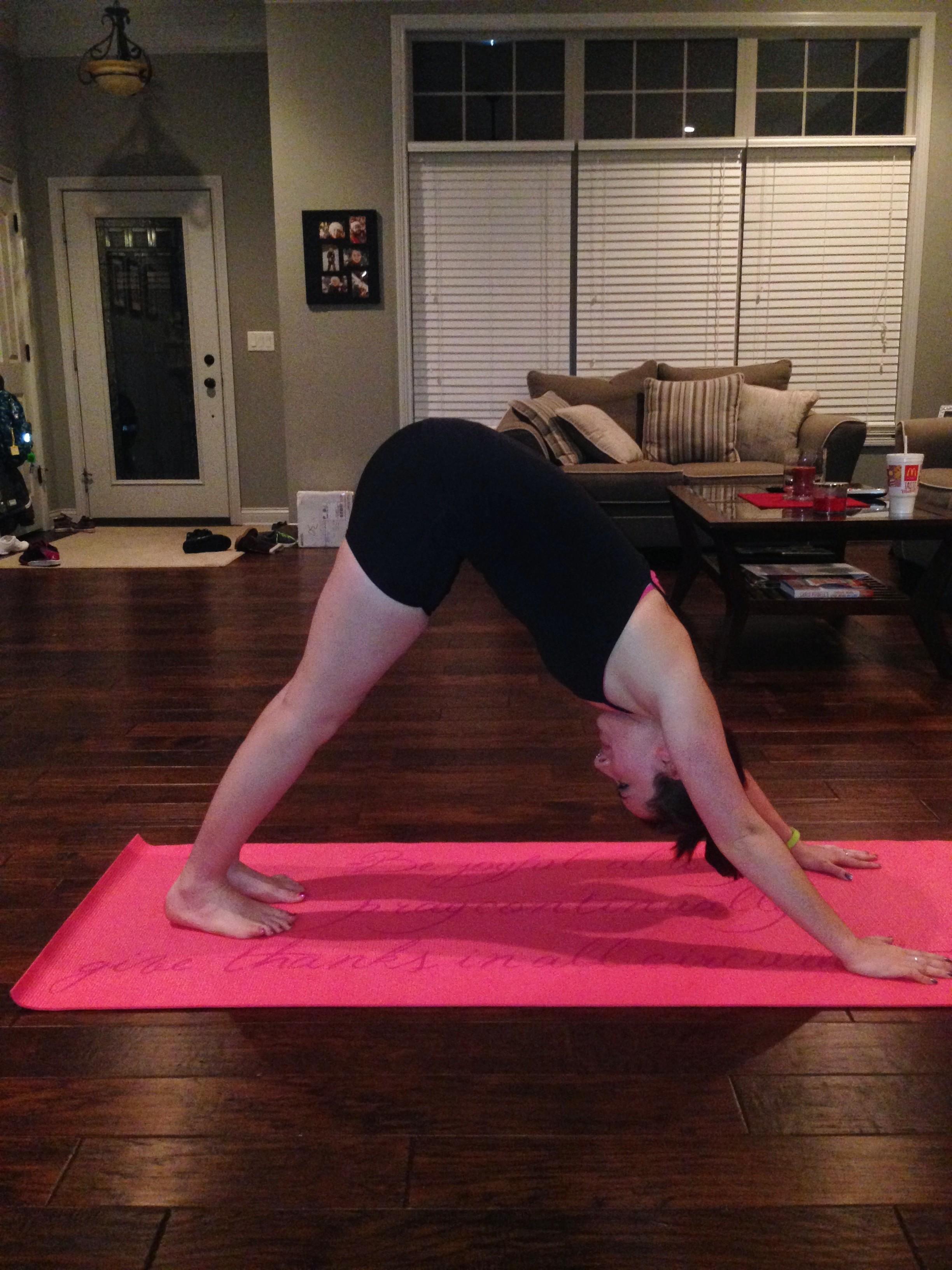 first yoga pic downward facing dog.JPG