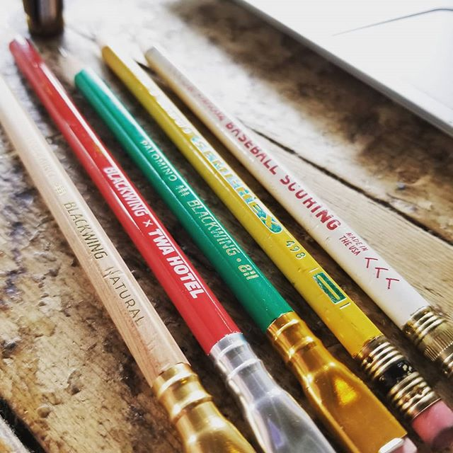 Today's tools @generalpencil @blackwing @cwpencilenterprise  #stationery #pencils