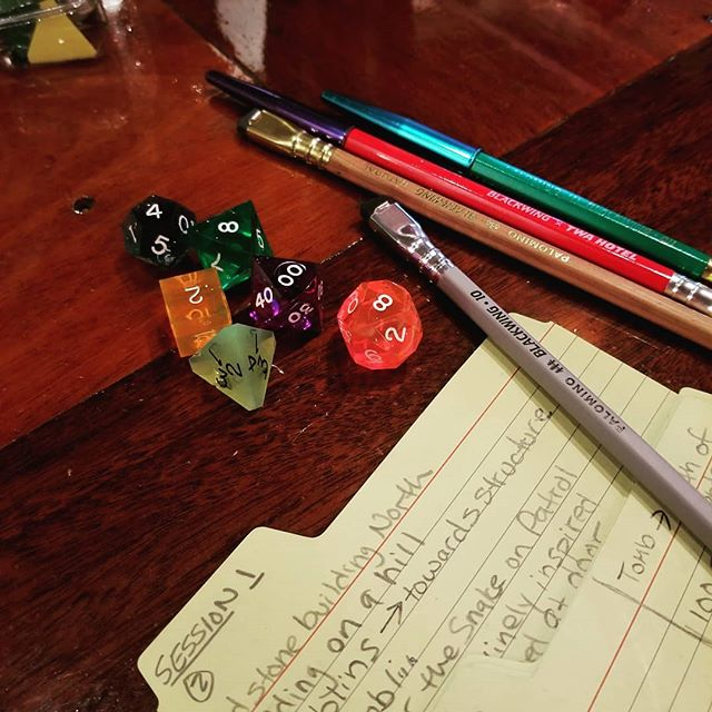 Wednesday night Dungeons and Dragons game: @blackwing @dndwizards
