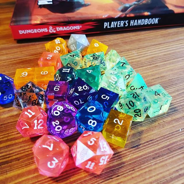 Pretty! @dndwizards @gamescience #ttrpg #dnd