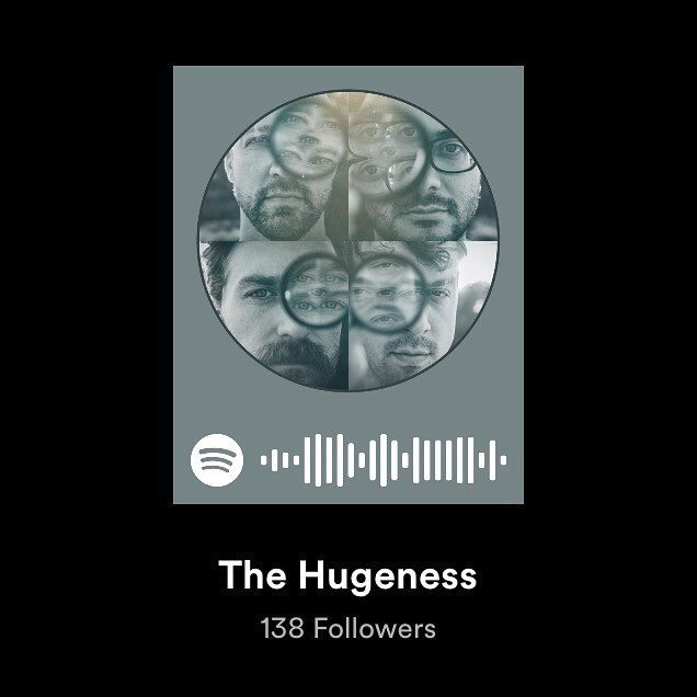 Who's on Spotify?? Give us a follow if you are! Let's stay in touch. #thehugeness