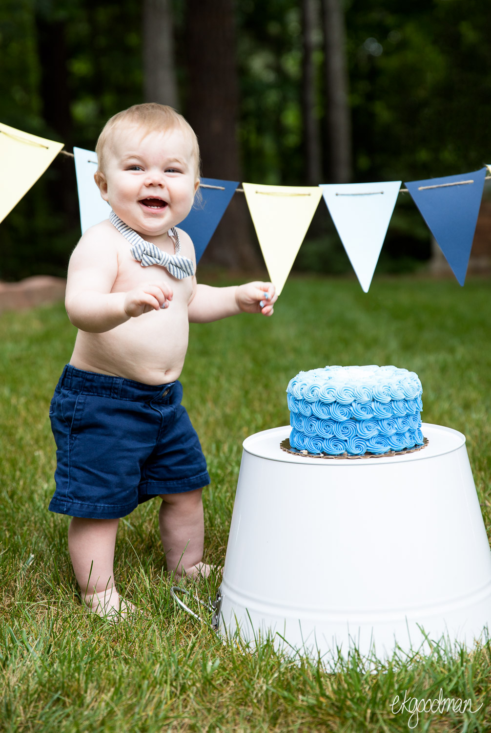 Smash! - A first birthday, a celebration, and blue icing everywhere