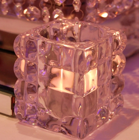 Square Glass Votive