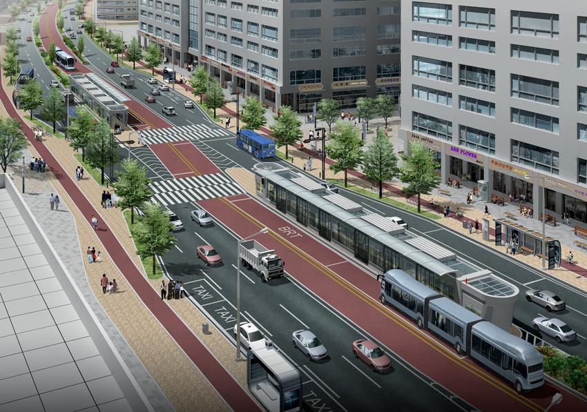 행정중심복합도시 BRT도로 공간계획, 2007년