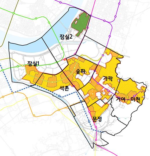 송파구 저층생활권 활성화전략 연구, 2017년