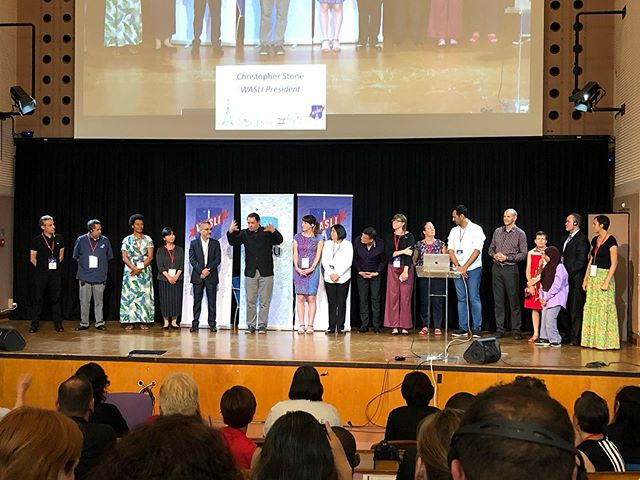 This extraordinary league of humans who coordinated the @w.a.s.l.i 2019 conference in Paris France. Representing Sign Language Interpreters From every part of the world. 🤯 #wasliparis2019