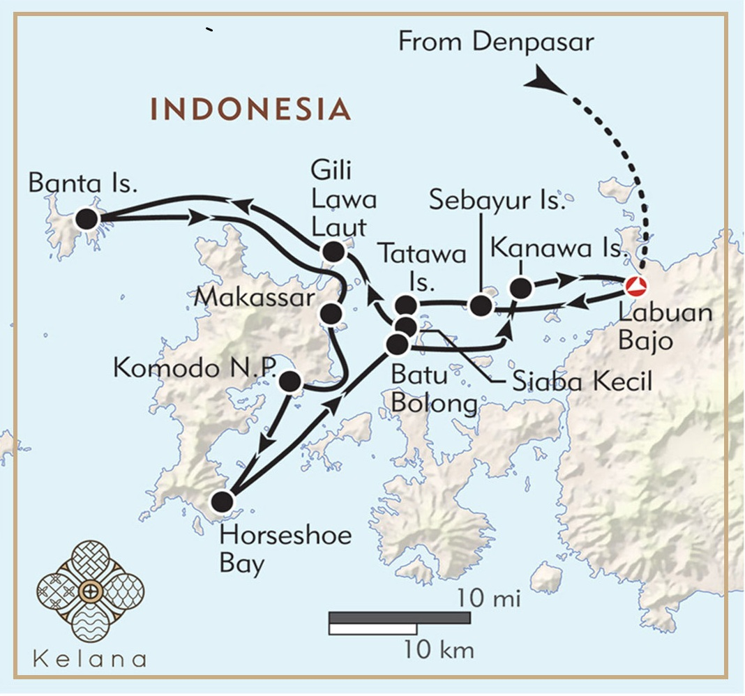 map of komodo island