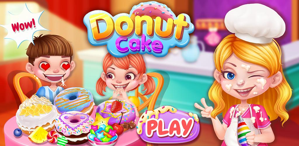 Sweet Donut Cake Maker  The best bakery chef make sweet dessert - donut cake. Let's enjoy the yummy food