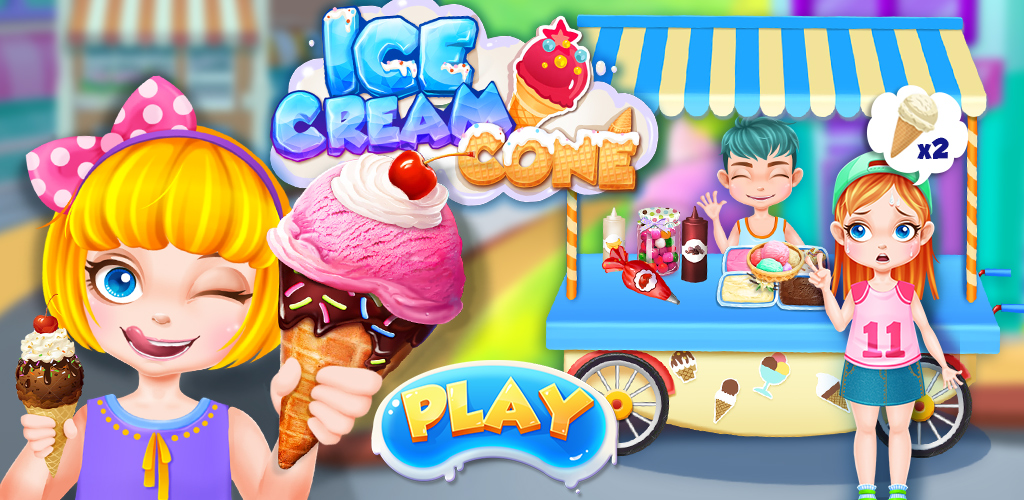 Ice Cream - Summer Frozen Food  Make yummy frozen ice cream to enjoy the hot summer vacation food cooking fun.