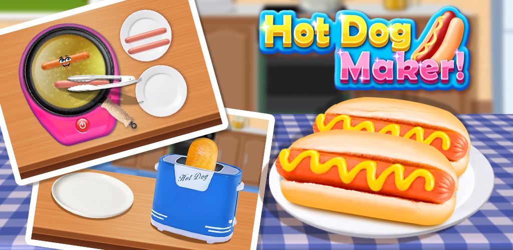 Hot Dog Maker 2!  Time for hot dog COOKING! Add that extra cheese, tomato or pickle as you wish!