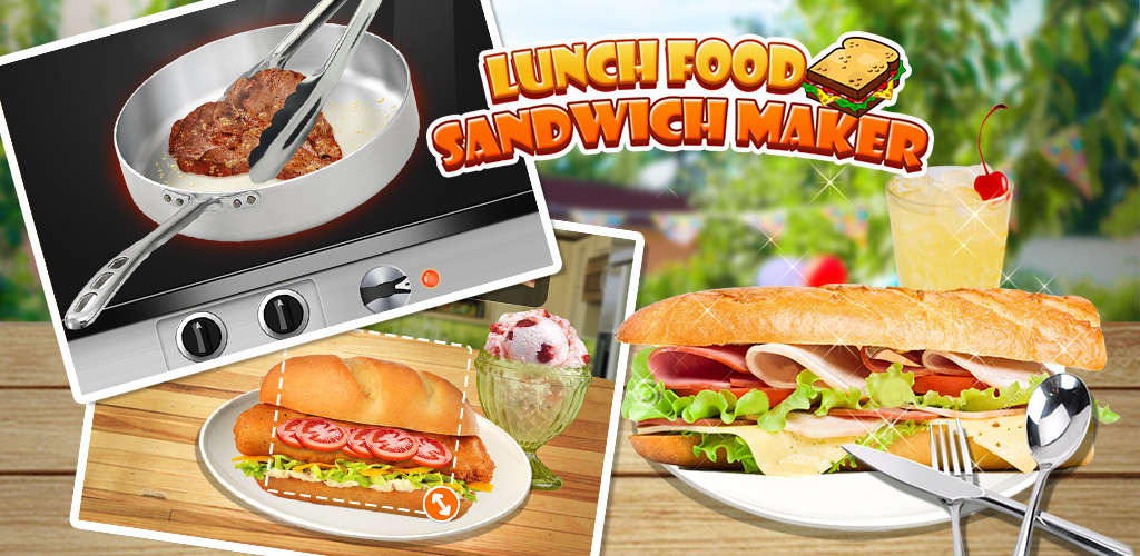 Lunch Food: Sandwich Maker  Wonder what is the BEST sandwich in the world? Try customize your own right NOW!