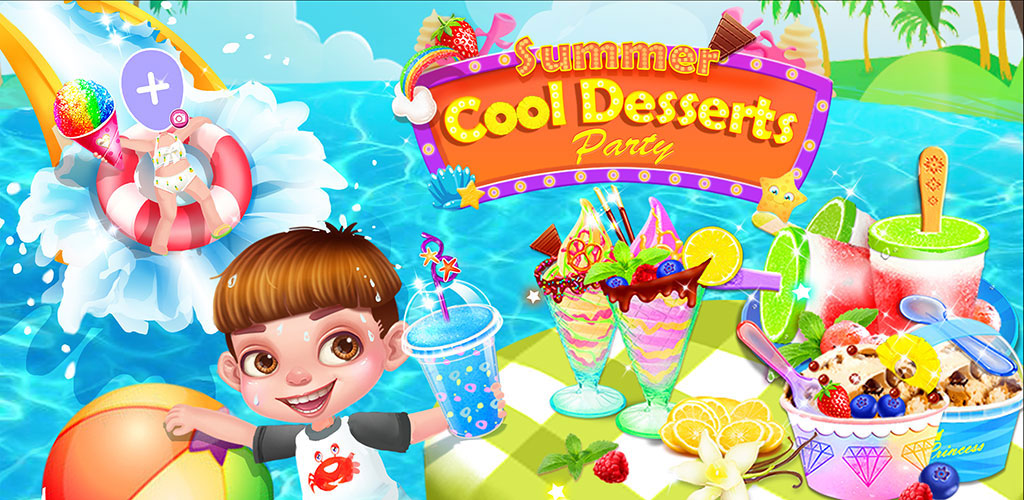 Summer Ice Cream Desserts             Let's have an incredible icy desserts journey in crazy water park!