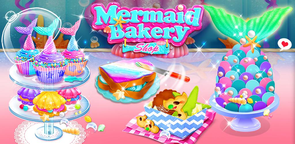 Mermaid Cupcakes  Run a sweet mermaid bakery shop and make yummy mermaid desserts!