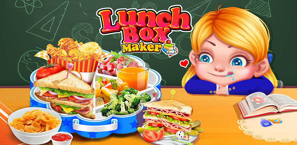 School Lunch Food Maker 2                                                       Let's cook yummy foods and make school lunch box for kids!