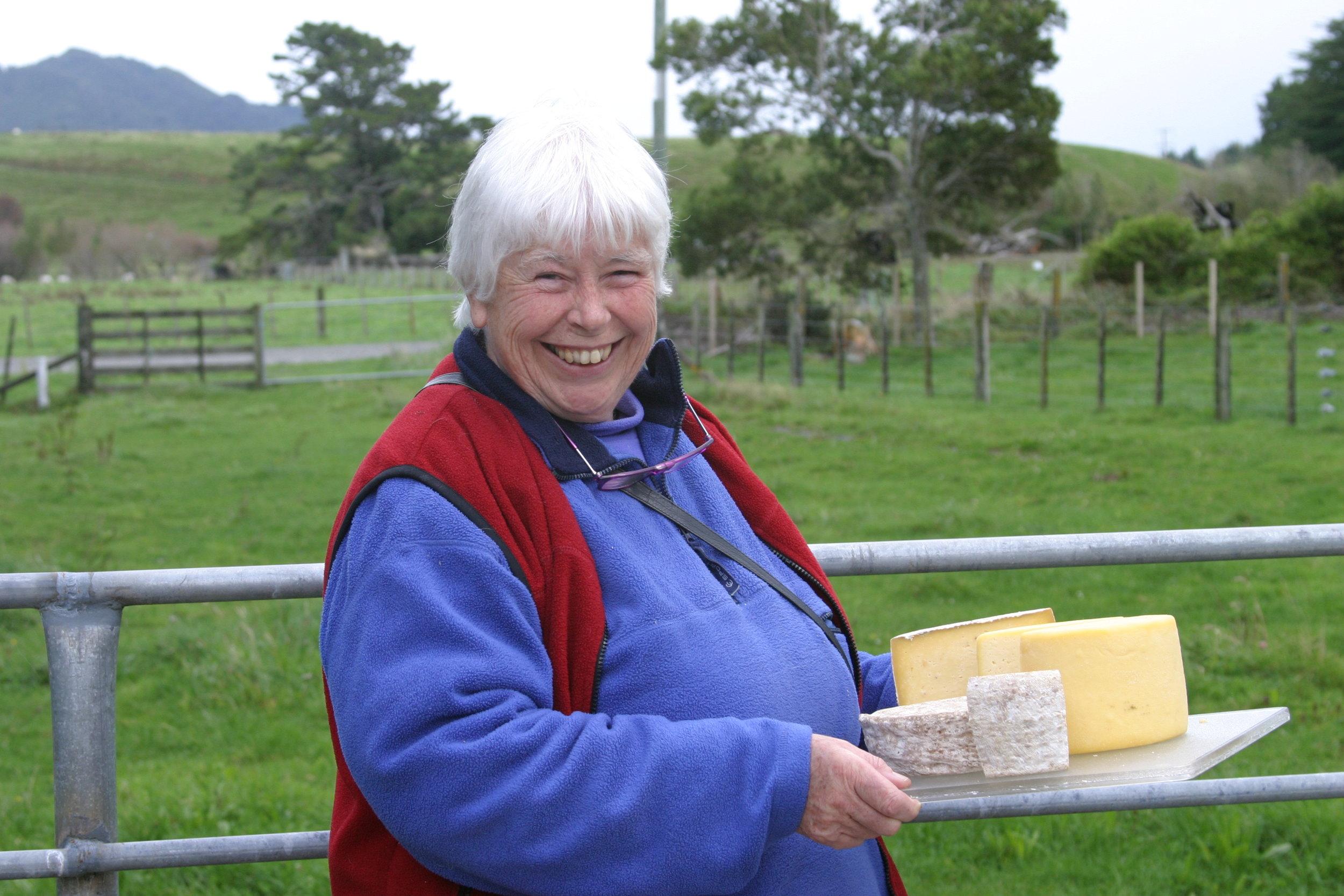 Biddy Fraser-Davies at home at Cwmglyn Farmhouse Cheeeses