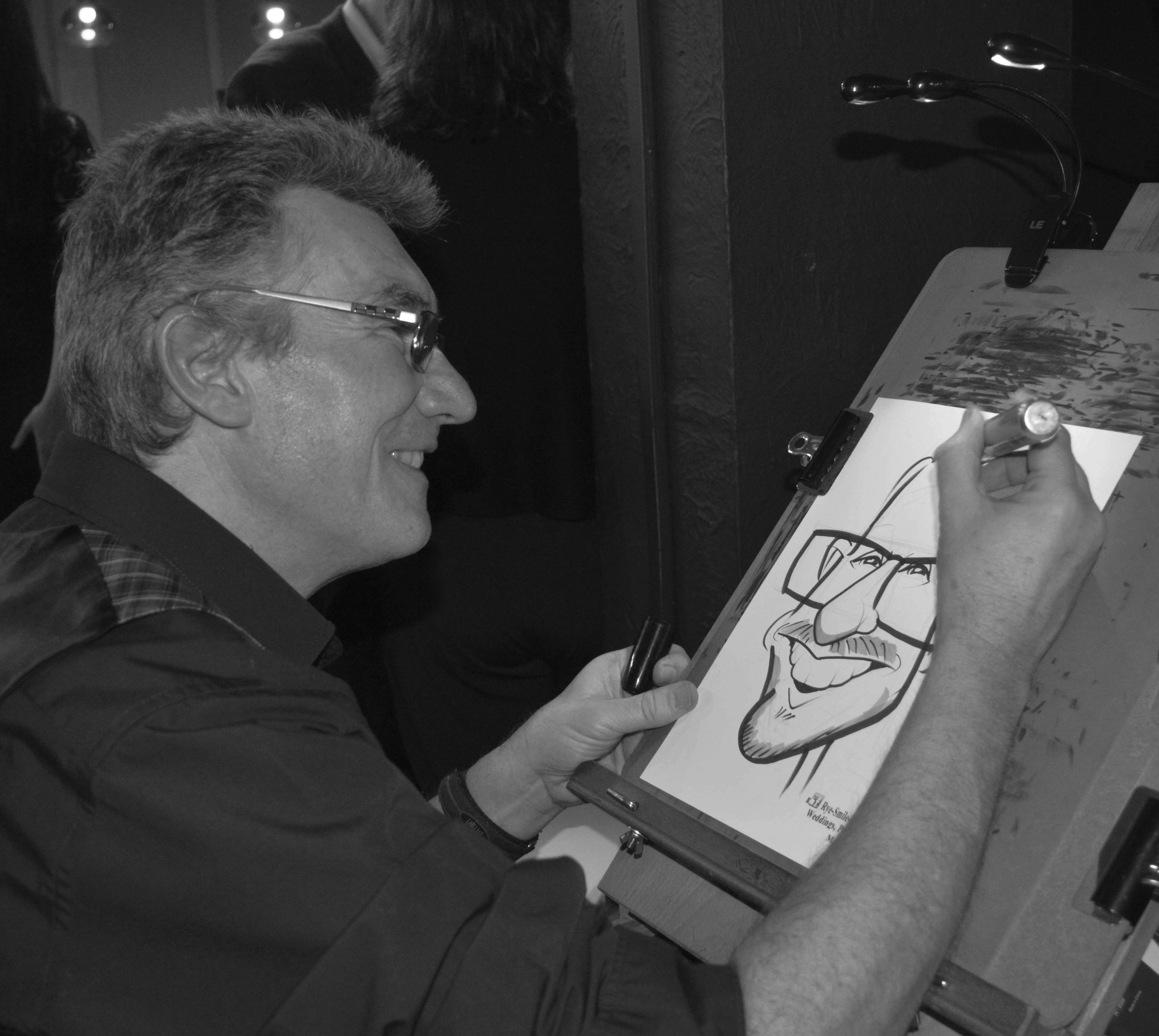 Rye Smile Caricatures - Kevin Drawing Live