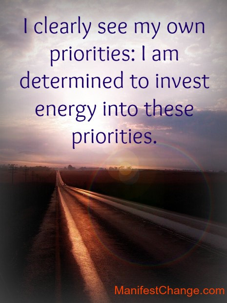 quote priorities positive affirmations