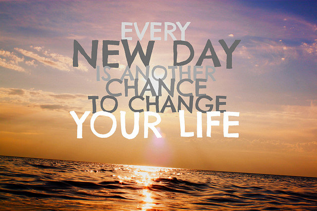 change past fear future chance opportunity