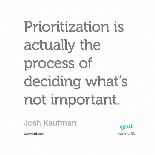 priorities list decision change