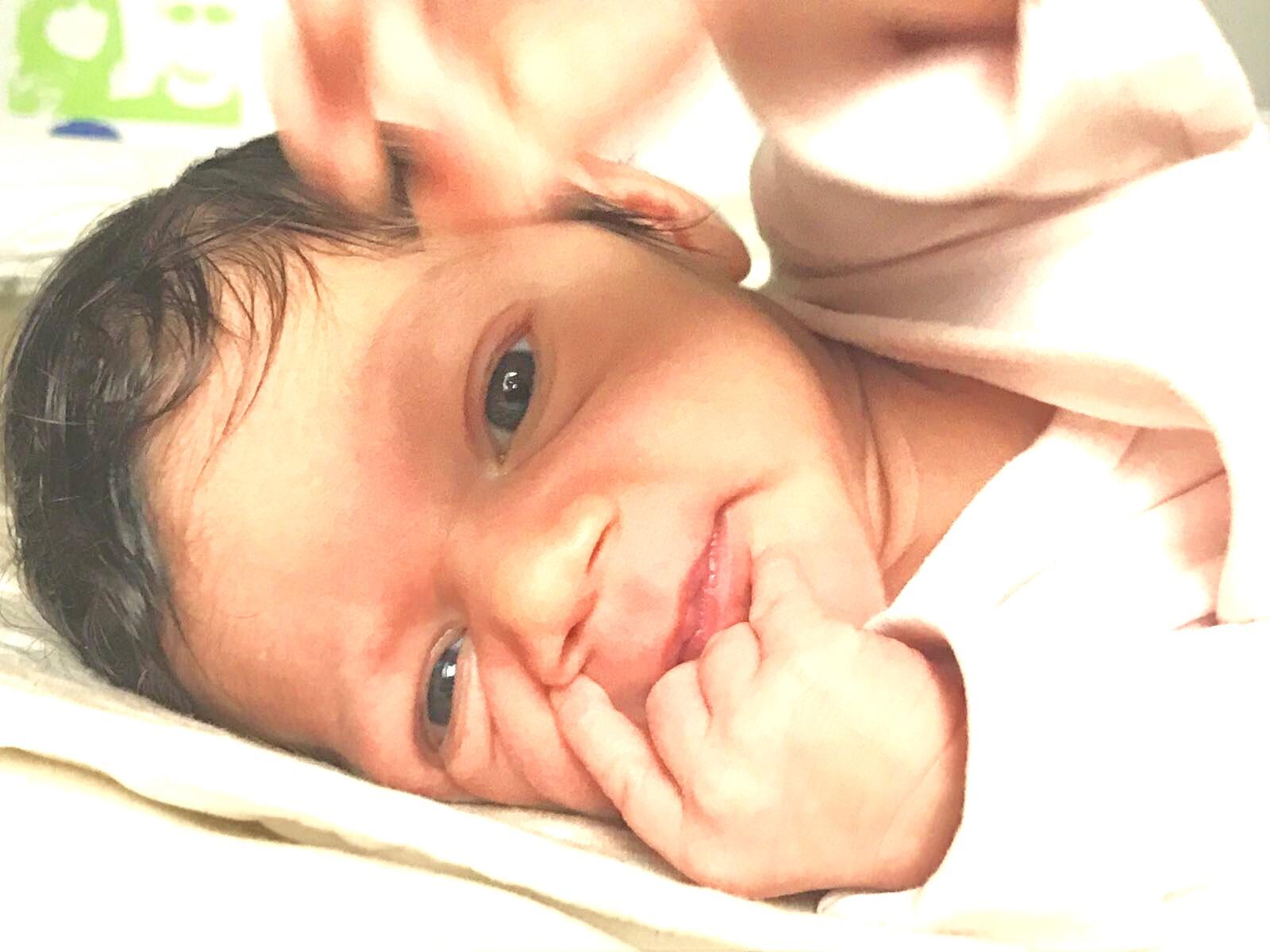 Baby girl Diane eyes