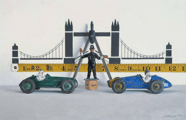 Bridging The Gap, oil on canvas, 51 x 71 cm