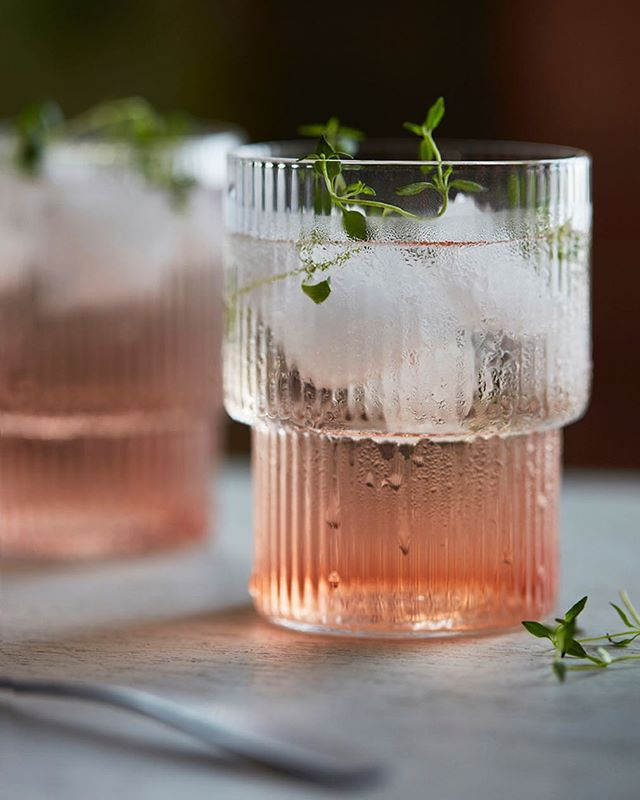Cranberry thyme gin and tonic by @joannazofia.r  Yes as tasty as it looks!