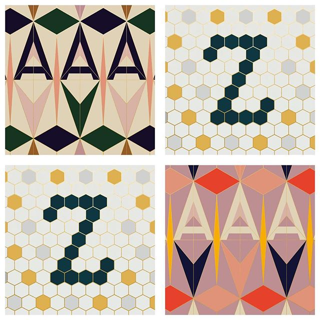 Here's the full set of 26 letters the complete A-Z comprising of the good, the experimental and everything in-between, from minimalist to maximalist, colourful to monochromatic-ish 🤓  #36daysoftype #36days_adobe #contest #typography #design #typedesign #lettering #type #letterform #design #style #artdirection #graphicdesign #letterdesign #graphicarts #fonts #36daysoftype06 #homedecor #goldfoil #artdeco #mosaic #ihavethisthingwithcolour