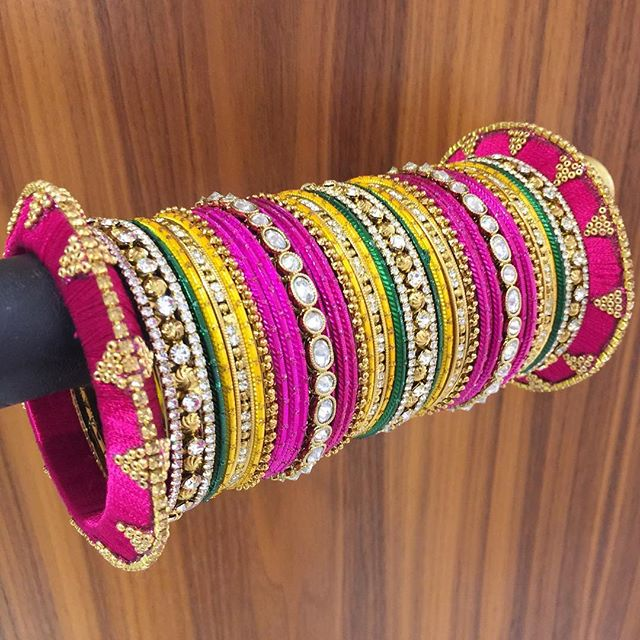 Colours are everything for our summer brides!! #shopbees #allthingsbridal #asianbride #bangles #beesjewellery #mehendi #traditionalbride