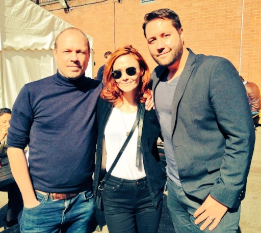 Director  Martin Stitt , Actress  Rebecca Calder  & Composer/Vocalist  Michael L. Roberts  at the Cast & Crew Premiere of LOVE/ME/DO  London, 2015