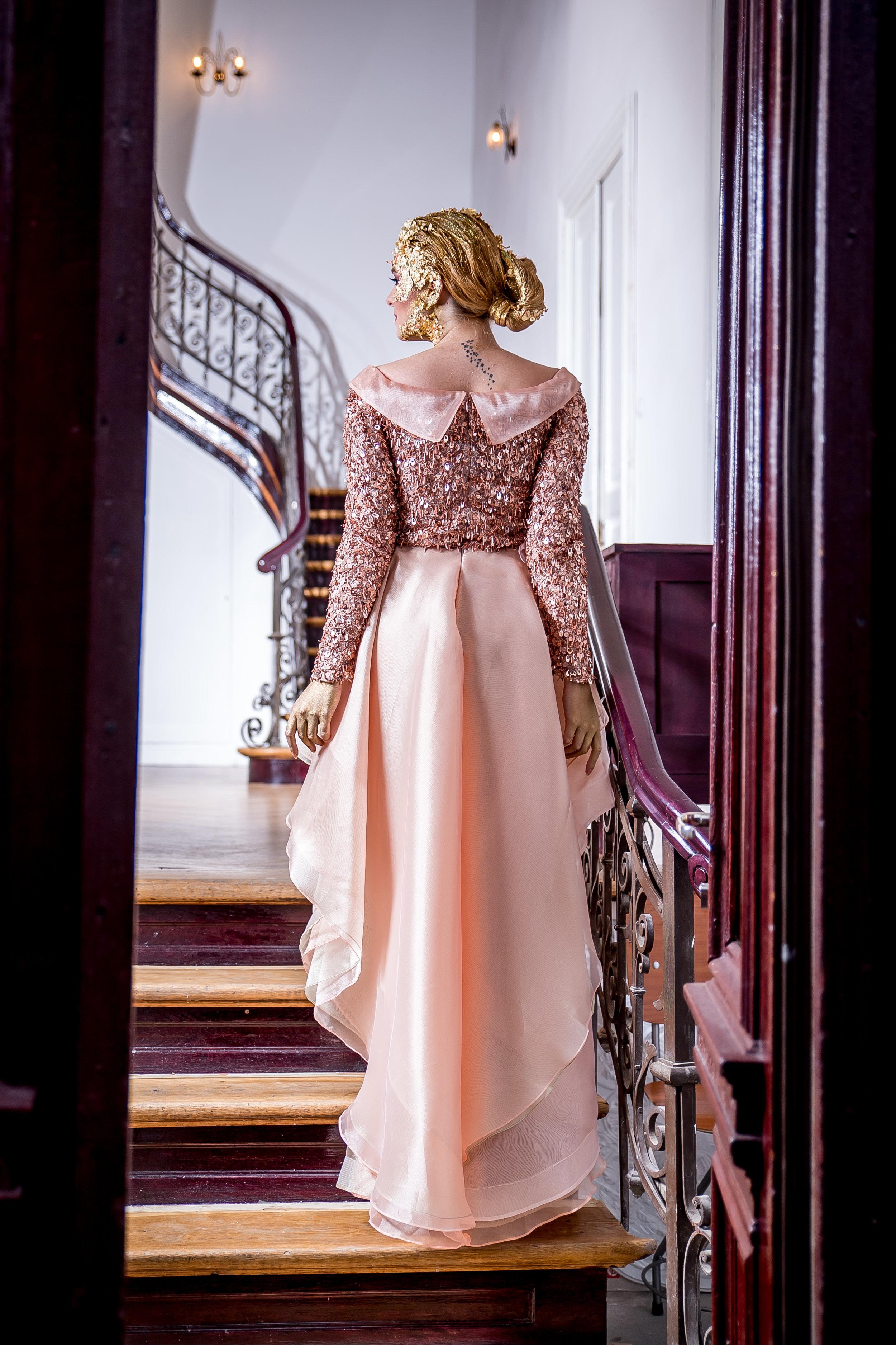Halah Evening Dress 2018 Golden Shades Fashion by Laina