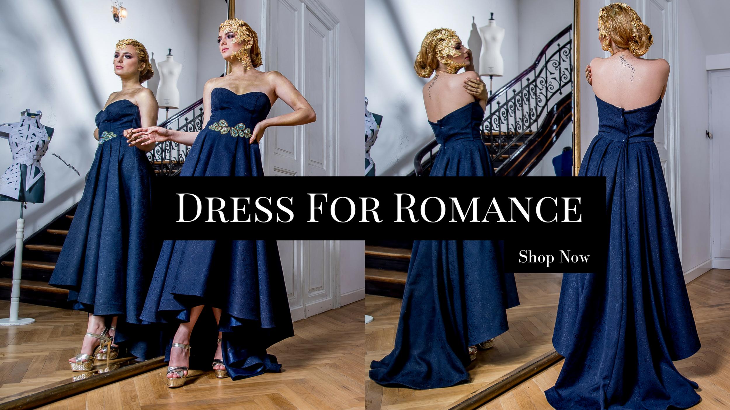 Romantic Blue Evening Dresses Fashion by Laina