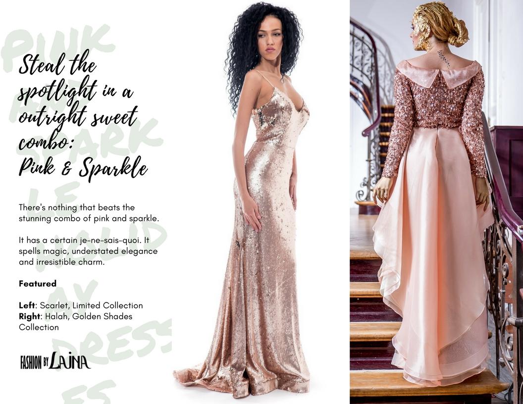 Shop the dresses:  Scarlet ,  Halah .