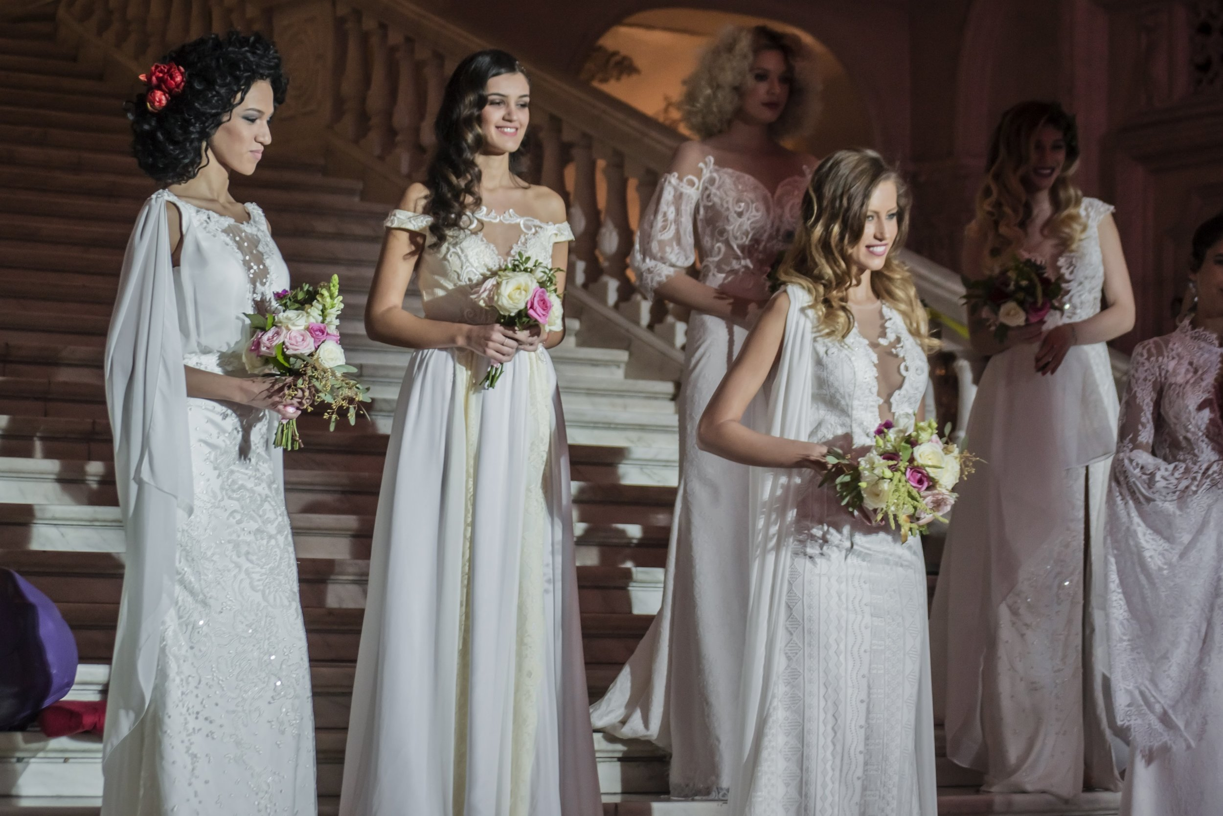 2018 wedding dresses featured  (left to right):   Aster ,  Coquelicot ,  Lilas ,  Cozla .