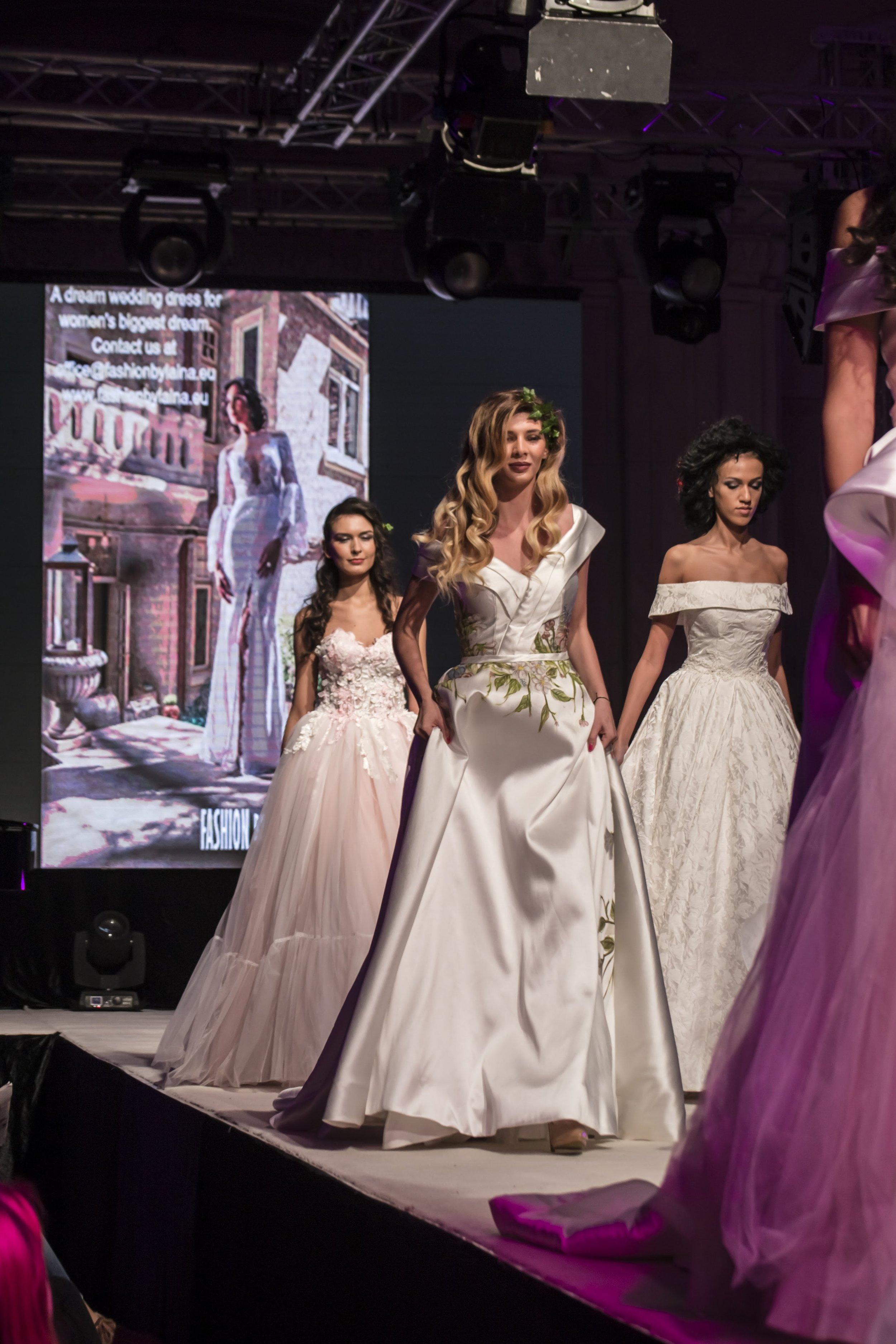2018 wedding dresses featured (back to front):  Elléboré ,  Jardin .