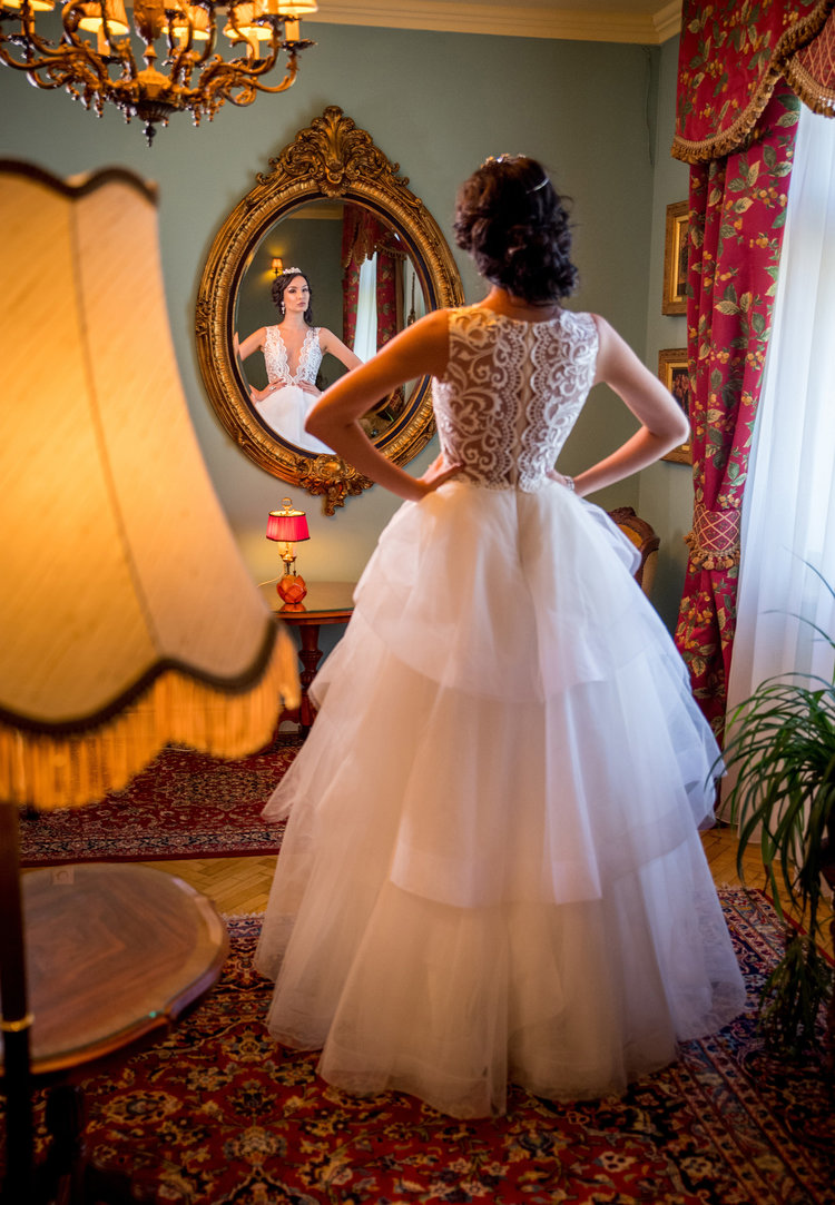 Ball Gown Lace and Tulle Wedding Dress with Tiered Ruffles - See more at www.fashionbylaina.eu