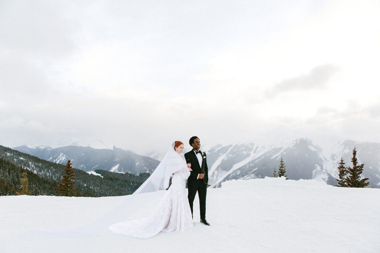 Photo by JAMES CHRISTIANSON at Aspen Mountain Club in Aspen, Colorado, via  The Knot